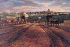 Trails Leaving Independence by Goslin